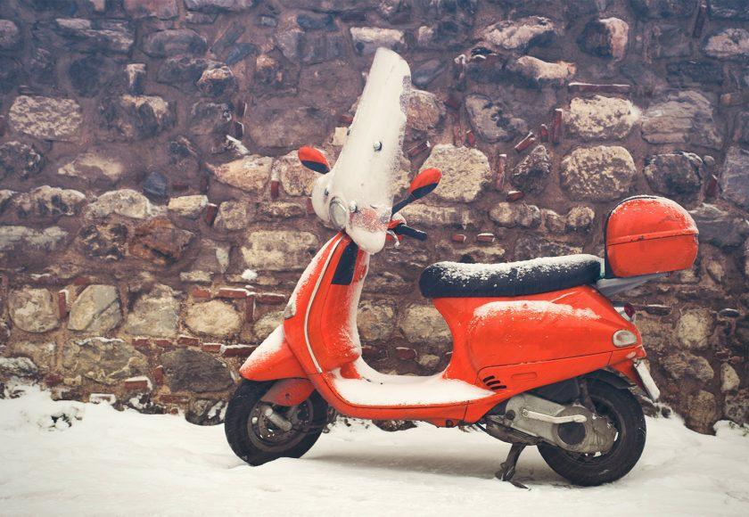 conduire un 2 roues en hiver