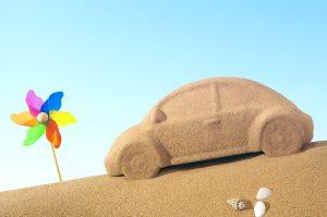 sable et voiture